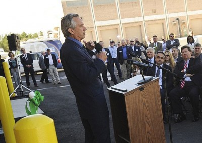 Kennedy helps christen facility to treat, clean waste water